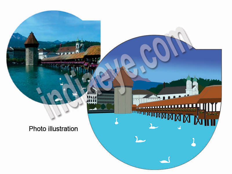 Vector illustration of photographs